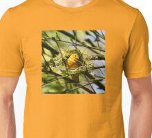 Golden Weaver Bird Building Nest Unisex T-Shirt