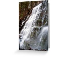 Bear Creek Falls in Winter Greeting Card