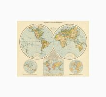 Vintage Map of The World (1895) Unisex T-Shirt