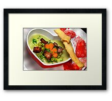 Peas, Bacon And..........a Little Pinch of Love Framed Print