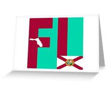 FL= Florida State Greeting Card