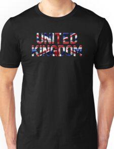 United Kingdom - British Flag - Metallic Text Unisex T-Shirt
