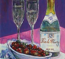 Champers and strawberries by christine purtle