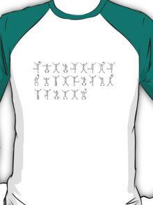 I Believe in Sherlock Holmes - Dancing Men - Black Text T-Shirt