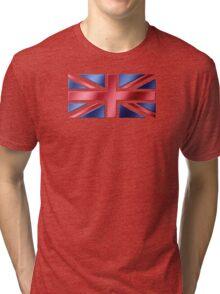 British Flag - UK - Metallic Tri-blend T-Shirt