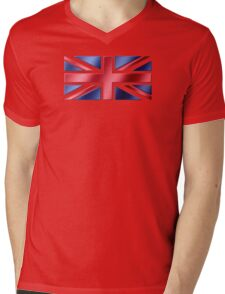 British Flag - UK - Metallic Mens V-Neck T-Shirt