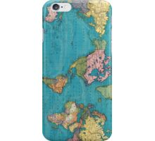Vintage Map of The World (1897) iPhone Case/Skin