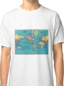 Vintage Map of The World (1897) Classic T-Shirt
