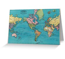 Vintage Map of The World (1897) Greeting Card