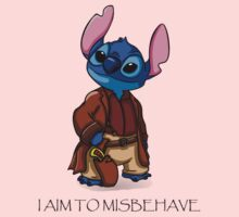 I Aim To Misbehave Baby Tee