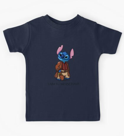 I Aim To Misbehave Kids Tee