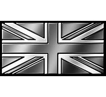 British Union Jack Flag 2 - UK - Metallic - Steel Photographic Print