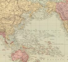 Vintage Map of The World (1901) Sticker