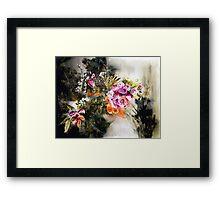 Dark Floral Framed Print