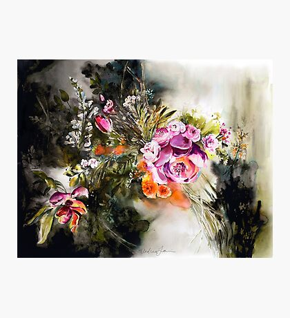Dark Floral Photographic Print