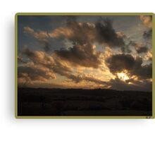 Sunset in Chianti. Canvas Print