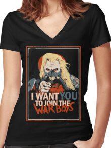 Yo Joe! Women's Fitted V-Neck T-Shirt