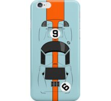 Ford GT40 with gulf livery iPhone Case/Skin