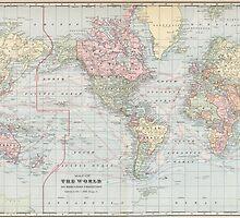 Vintage World Map (1901) by BravuraMedia