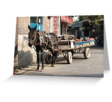Beijing 2006 - Rural China in the city Greeting Card