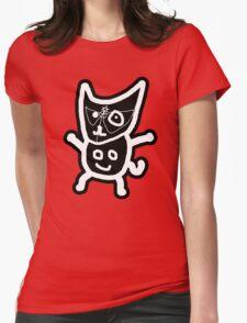 black ZEFCAT Womens Fitted T-Shirt