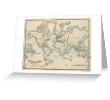 Vintage Map of The World (1911) Greeting Card
