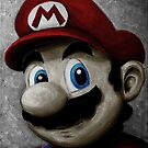 Portrait of an Italian plumber in color by wimpy