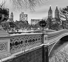 Bow Bridge Night by Randy  LeMoine