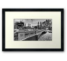 Bow Bridge Night Framed Print