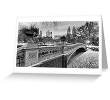 Bow Bridge Night Greeting Card