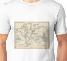 Vintage Map of The World (1911) Unisex T-Shirt
