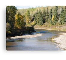 Fall Colours along the Little Smoky River Canvas Print