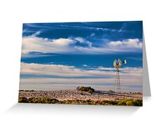 Catch the Wind - Mungo NP, NSW Greeting Card