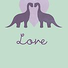 Prehistoric Love Greetings Card by perdita00
