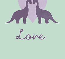 Prehistoric Love Greetings Card by perdita00