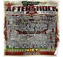AfterShock Festival Sacramento CA,2015 Poster