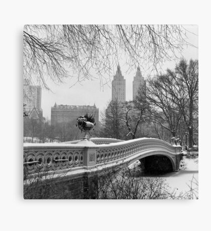 Bow Bridge Daytime Canvas Print