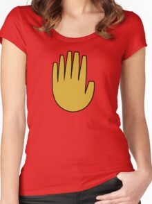 Gravity Falls: The Journal Hand (vector) Women's Fitted Scoop T-Shirt