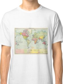 Vintage Political Map of The World (1922) Classic T-Shirt