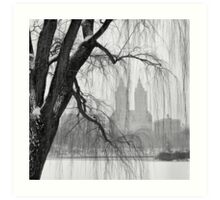 San Remo in Snow Art Print
