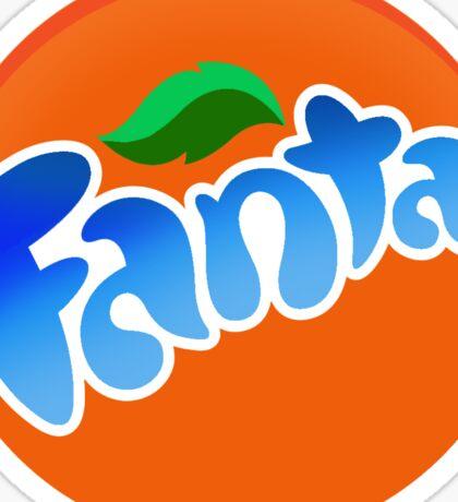 cool blue fanta logo Sticker