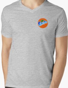 cool blue fanta logo Mens V-Neck T-Shirt