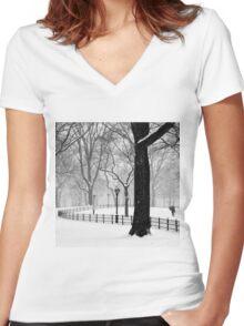 Central Park Walker Women's Fitted V-Neck T-Shirt