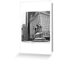 59th Street Penn Plaza Greeting Card