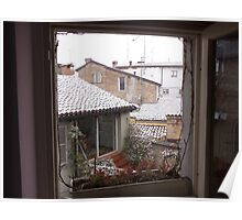 una finestra...un terrazzino sui tetti di parma -Italy-...a window,a  terrace on the rooF of Parma-italy-1200 visualizz 2013--RB EXPLORE 5 FEBBRAIO 2012 --- Poster