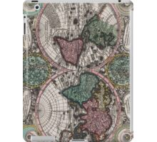 Vintage Map of The World (1744) iPad Case/Skin