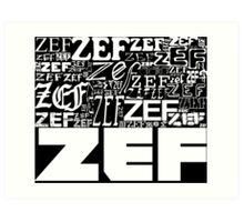 ZEFZEFZEF BLACK Art Print