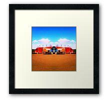 mirror/trucks Framed Print