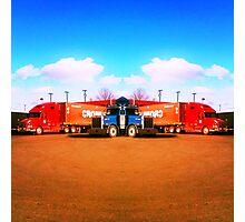 mirror/trucks Photographic Print
