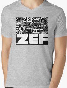 ZEFZEFZEF BLACK Mens V-Neck T-Shirt
